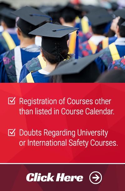 Register for International Safety Qualifications and University Courses
