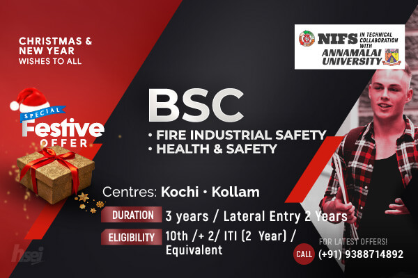 BSc Fire Industrial Safety, Health and Safety