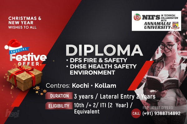 Diploma in Fire and Safety, DHSE Health Safety Environment