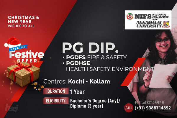 PG Diploma in Fire and Safety, Health Safety Environment