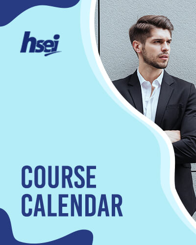 Courses Calendar for NEBOSH, IOSH, MFA Safety and other University courses
