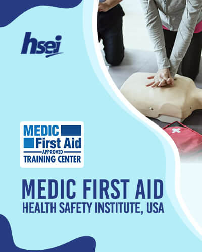 MFA Health Safety Institute, USA - Medic First Aid Basic Plus CPR, AED and First Aid for Adult courses and Industrial Training