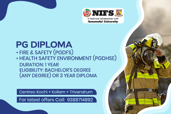 NIFS in technical collaboration with Acharya Nagarjuna University - Diploma in Fire and Safety